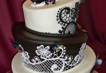 кривой свадебный торт