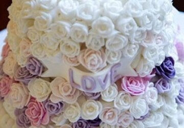 маленькие цветы для свадебного торта