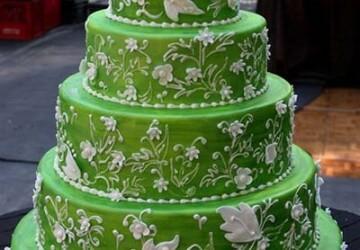 мастичный свадебный торт