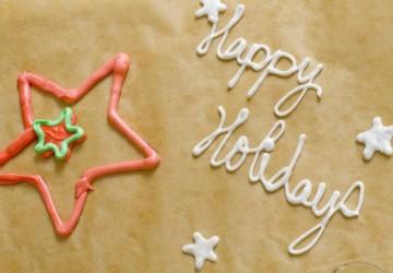 надпись на торте с помощью айсинга с глицерином