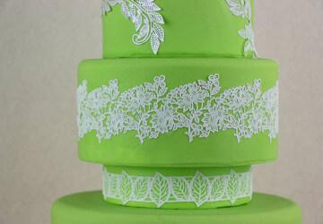 свадебные торты из коврика для айсинга