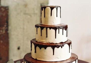 свадебный торт из глазурьи
