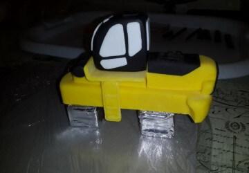 украшаем торт трактор7