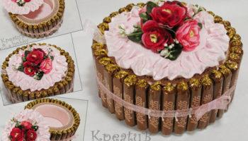 украшение торта конфетами3