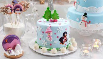украшение торта конфетами5