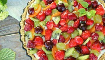 украшение торта фруктами и ягодами5