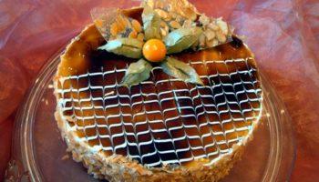 украшение тортов карамелью5