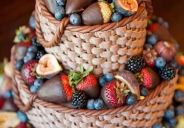 фруктовое украшение торта
