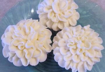хризантемы из крема