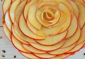 цветы из яблоки