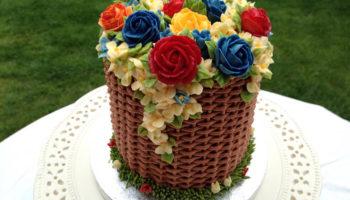 1 украшение торта цветами из крема