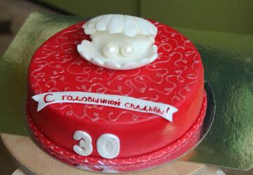 30 лет торт для годовщины