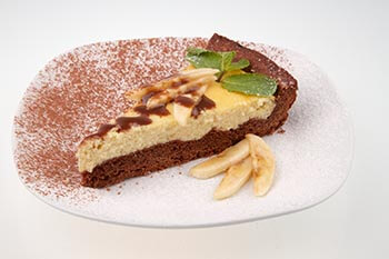 банановый песочный торт
