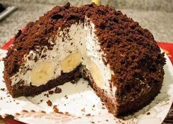 банановый торт с шоколадом