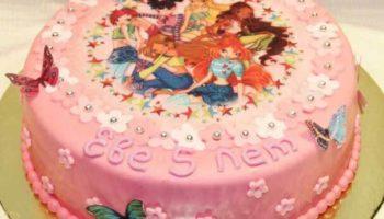вафельное украшение торта для девочки
