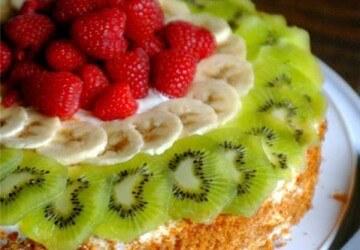 идеи оформления наполеона с помощью фруктов