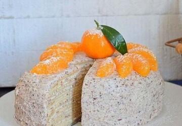 красивое оформление блинного торта кремом
