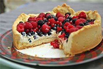 песочный торт с фруктами