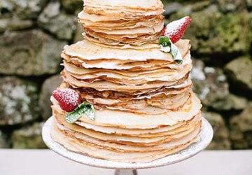 трех ярусный блинный торт