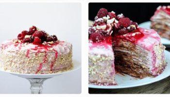 украшение блинного торта ягодами