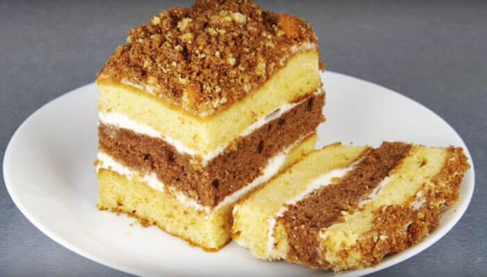 Быстрый бисквитный торт