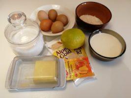 Ингредиенты для лимонного бисквитного торта