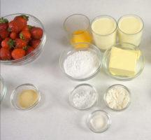 Ингредиенты для клубничного крема