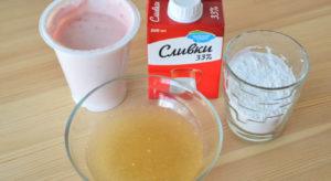 Ингредиенты для сливочно-йогуртового крема