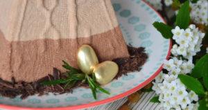 Творожная пасха золотая с золотым яичком